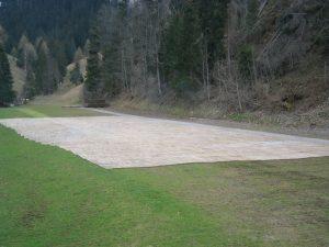 Intakter Boden nach Rückbau auf Landwirtschaftsboden