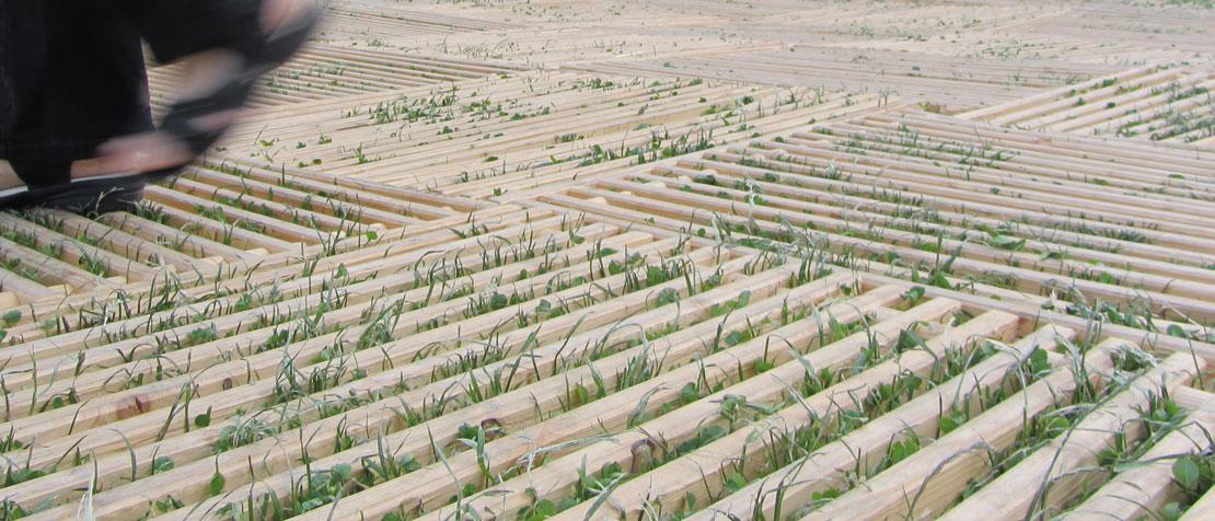 Lattenkonstruktion Holzroste ecoplate