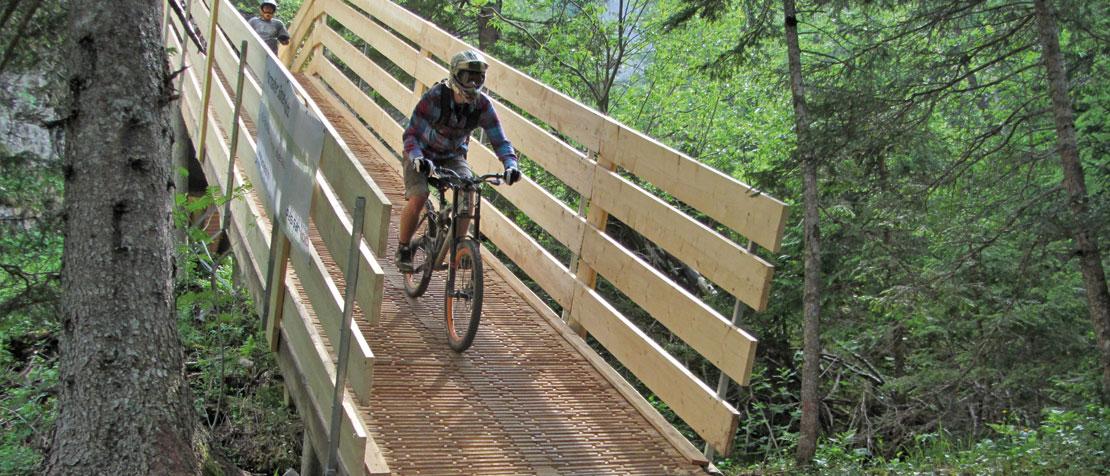 ecotrail Brücke Mountainbike Kandersteg