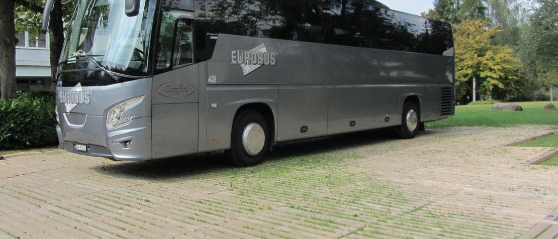 Buswendeplatz mit ecotruck