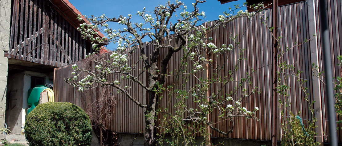 ecowall Sichtschutz aus Holz