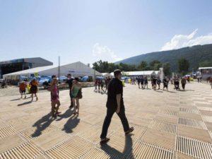 Turnfest Festmeile mit Blick auf Jura