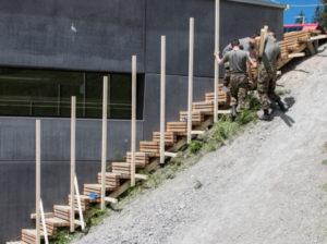 Aufbau Holztreppe