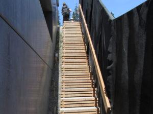 Holztreppen-Konstruktion