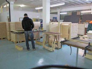 Produktion ecoplate Holzroste