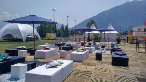 Swisscom Lounge mit ecoplate im Tessin