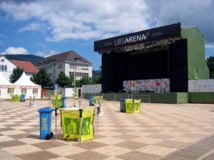 UBS Arena Bühne mit ecoplate Platz