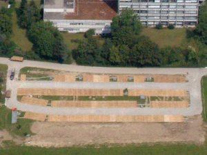 Temporärer Parkplatz Spital Solothurn von oben