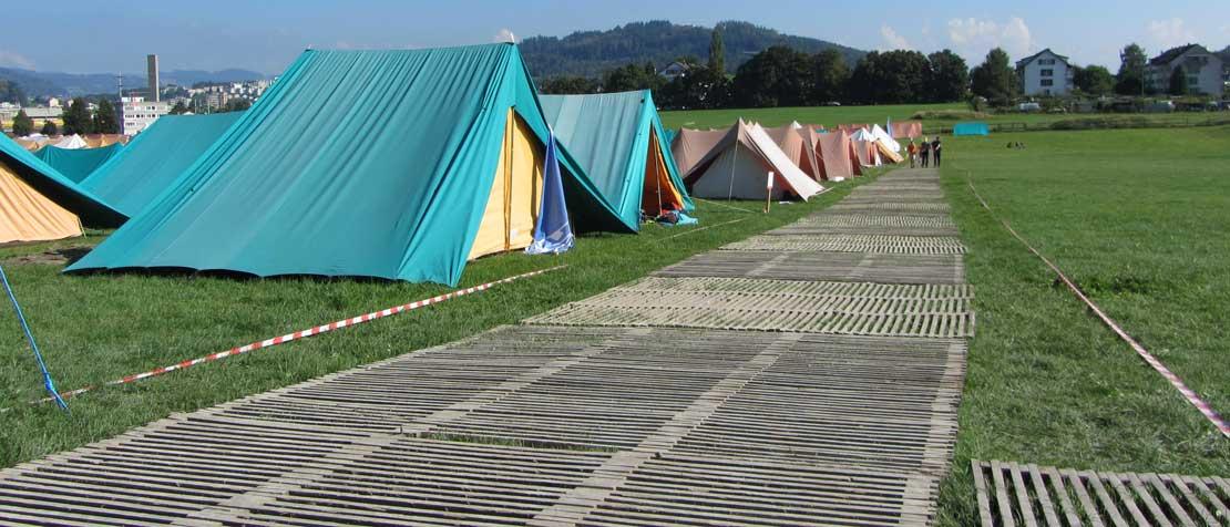 Zeltlager Bodenschutz ecopark