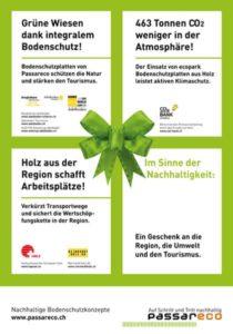 Plakat Nachhaltigkeit Adelboden