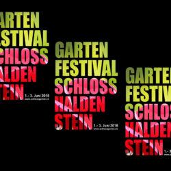 Plakat Gartenfestival Schloss Haldenstein