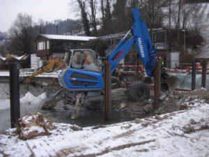 Stellplatz für Pneu-Kran mit ecotruck