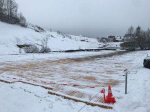 Winterparkplatz Luftseilbahn Wasserauen-Ebenalp mit ecopark Holzrosten