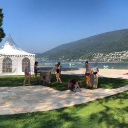 ecoplate Weg am lakelive Festival im Bieler Strandbad