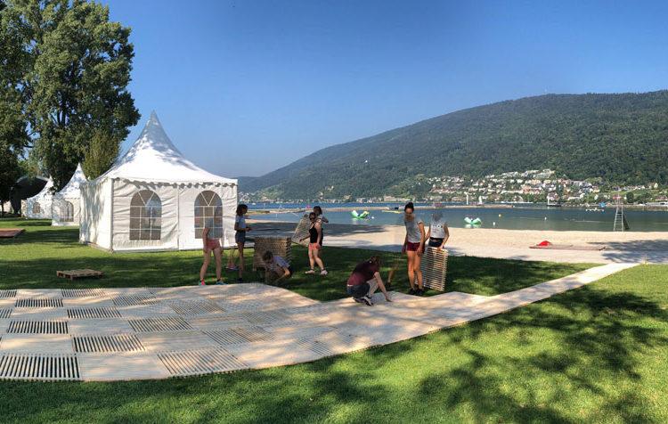 Aufbau Passareco ecoplate am lakelive Festival
