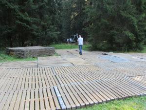 ecotruck Holzroste im Jura