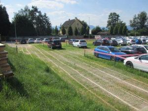Temporärer Parkplatz SRO Langenthal