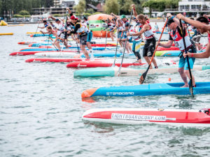 Lakelivefestival 2019 in Biel, Stand-Up Paddling auf dem Bielersee